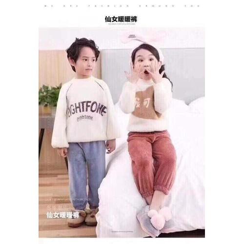 quần lông siêu ấm cho bé