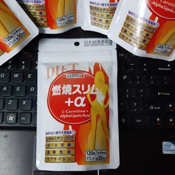 Viên Uống Giảm Cân Đốt Cháy Mỡ Thừa L-Carnitine + Alpha Lipoic Acid Nhật Bản 30 Ngày