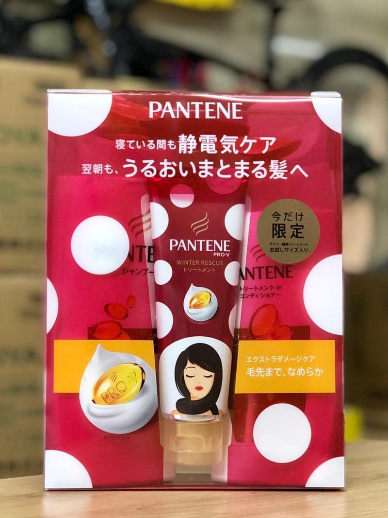 Bộ dầu gội Pantene set 3 mẫu mới màu xanh lá cây 3