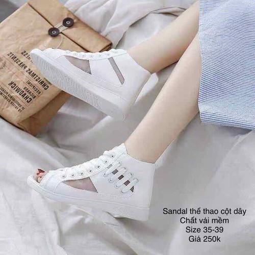 sandal cột dây thể thao nữ