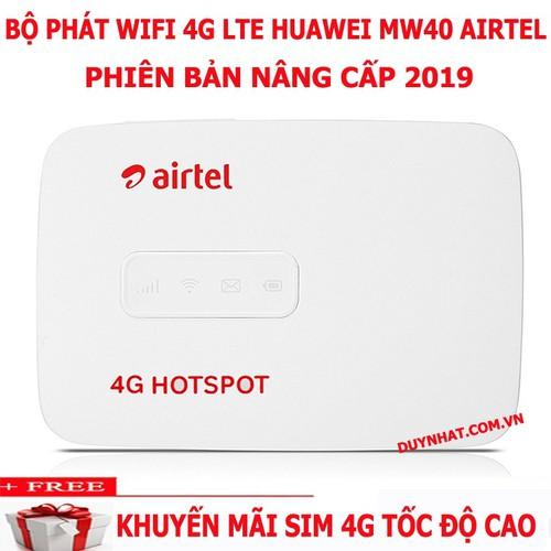 Modem Phát Wifi Từ Sim 3G 4G Airtel Mw40 - Bộ Phát Wifi - Khuyến Mại Lớn