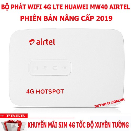 Bộ phát sóng Wi-Fi 4G Airtel MW40