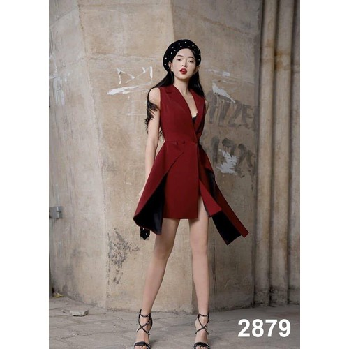 Đầm đỏ thiết kế sang chảnh 2879