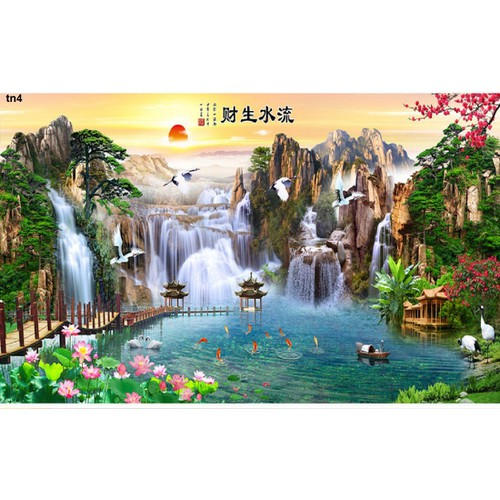 tranh gạch 3d phong cảnh 453DL