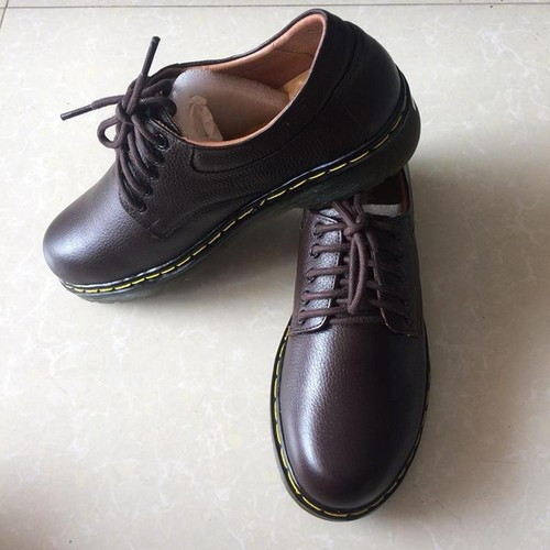 Giày doctor nâu da bò thật TH095