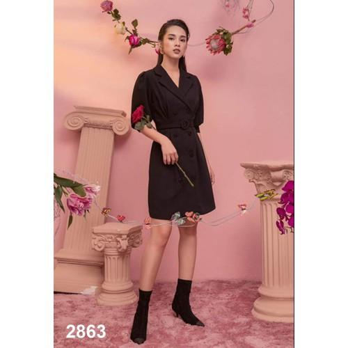 Đầm giả vest sang trọng 2863