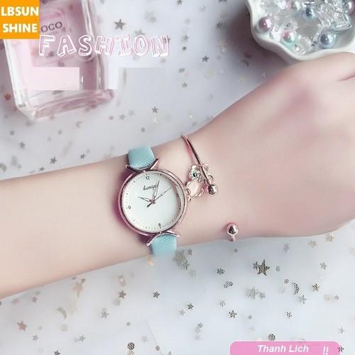 Đồng hồ thạch anh thời trang Hàn Quốc siêu mỏng nhẹ tặng vòng đeo tay hình Cú siêu độc lạ SD-BW-DH00X