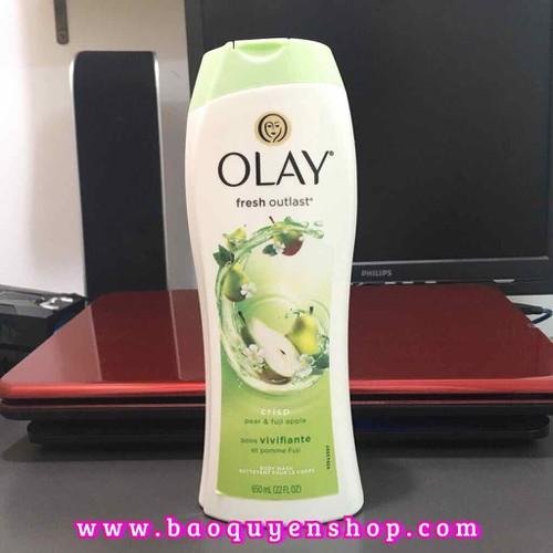 Sữa tắm Olay Fresh Outlast Crisp Pear and Fuji Apple 650mL