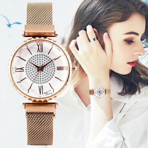 Đồng hồ nữ GOGOEY dây thép lụa khóa từ
