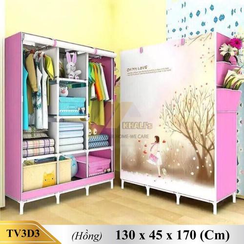 Tủ vải 3D 3 buồng 8 ngăn