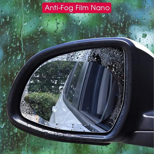 Bộ 2 miếng dán gương ô tô chống nước, sương mờ, chống chói - bộ 2 miếng bầu dục