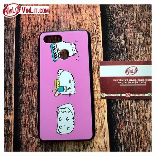 Ốp lưng Oppo F9 ốp hình 3 con mèo nền hồng cực cute