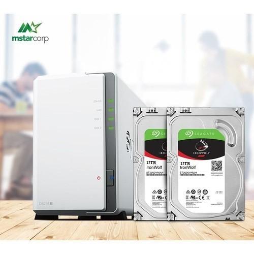 Combo Ổ cứng mạng Synology NAS DS218j và 2x HDD Seagate ironwolf 12TB - 4623983 , 13910525 , 15_13910525 , 31900000 , Combo-O-cung-mang-Synology-NAS-DS218j-va-2x-HDD-Seagate-ironwolf-12TB-15_13910525 , sendo.vn , Combo Ổ cứng mạng Synology NAS DS218j và 2x HDD Seagate ironwolf 12TB
