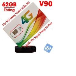 Sim 4G Viettel V120 nâng gói v90