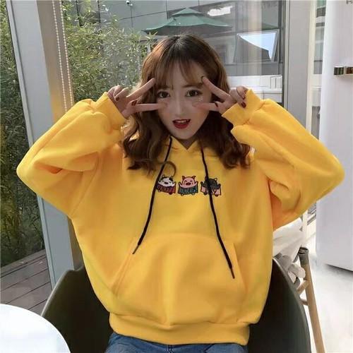 Áo hoodie hoạ tiết hoạt hình cute