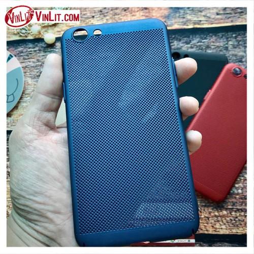 Ốp lưng Oppo F3  Oppo A77 Ốp lưới thoát nhiệt siêu mỏng sơn mịn  Xanh
