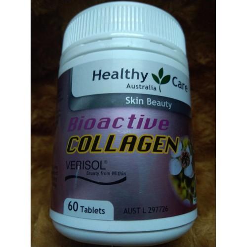 Viên uống bổ sung Collagen Healthy Care Bioactive Collagen 60 Viên có bill Úc