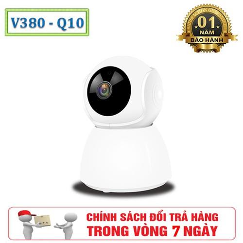 Camera Gám Sát WIFI V380 Q10 Ăng-ten Ngầm Full 720 HD