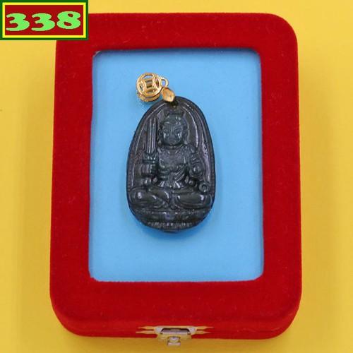 Mặt dây chuyền Phật Bất động minh vương cẩm thạch 3.6 cm hộp nhung phật bản mệnh tuổi Dậu