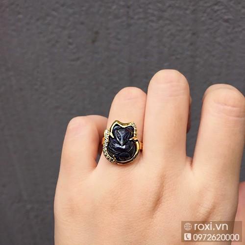 Nhẫn Hồ ly thạch anh tóc đen bọc vang 10k - 4626276 , 13928516 , 15_13928516 , 1850000 , Nhan-Ho-ly-thach-anh-toc-den-boc-vang-10k-15_13928516 , sendo.vn , Nhẫn Hồ ly thạch anh tóc đen bọc vang 10k