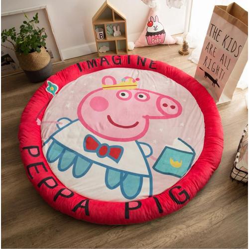 Thảm Nhung tròn cho bé PEPPA PIG