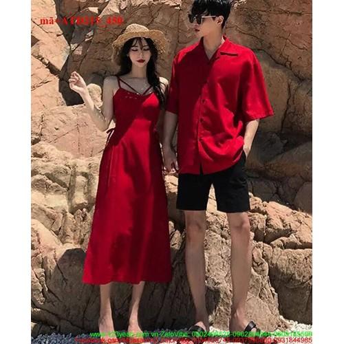 Set áo váy cặp đôi tình nhân đầm maxi dịu dàng ATD215