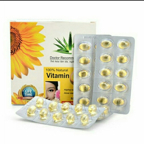 [CHÍNH HÃNG]Vitamin E đẹp da chống lão hóa hộp 100v