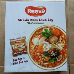 Thùng 30 gói Mì 3 Miền Reeva lẩu nấm chua cay 85g