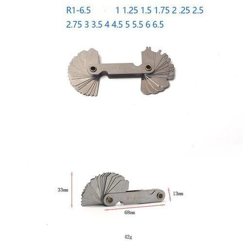 Bộ dưỡng đo bán kính 1-6.5mm
