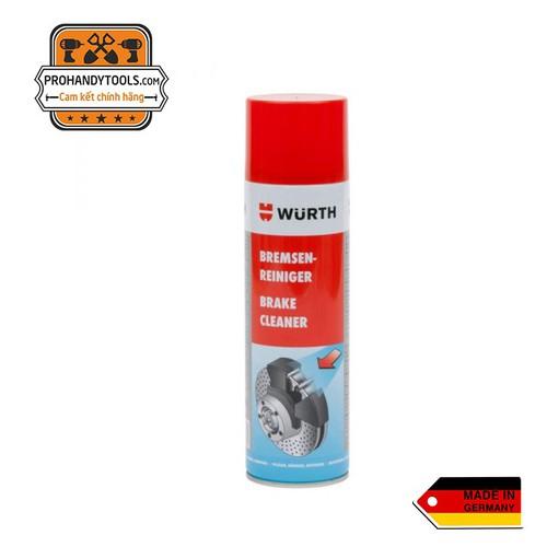 Chai xịt tẩy rửa dầu mỡ Wurth Brake Cleaner 500ml