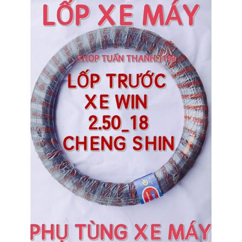 LỐP XE MÁY 250_18 DÙNG SĂM CHENG SHIN