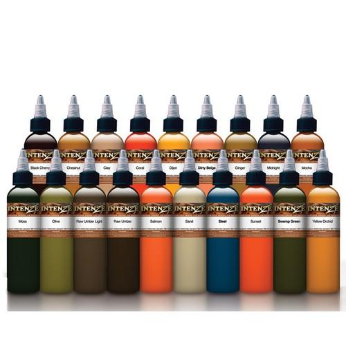Bộ mực xăm INTENZE Tattoo Ink Mike Demasi Color Potrait Set 19 màu 30ml cho máy xăm, kim xăm