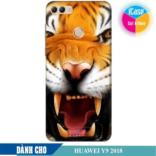Ốp lưng nhựa dẻo dành cho Huawei Y9 2018 in hình Tiger