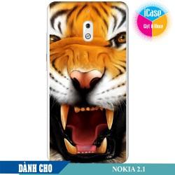 Ốp lưng nhựa dẻo dành cho Nokia 2.1 in hình Tiger