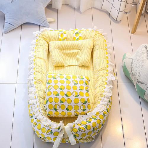 Bộ nệm nôi vải cho bé mẫu mới màu sắc tươi sáng dễ thương