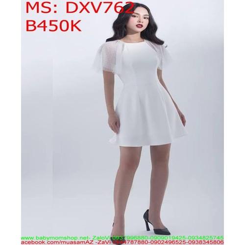 Đầm xòe trắng phối tay lưới chấm bi thời trang DXV762 - 7266005 , 13949450 , 15_13949450 , 450000 , Dam-xoe-trang-phoi-tay-luoi-cham-bi-thoi-trang-DXV762-15_13949450 , sendo.vn , Đầm xòe trắng phối tay lưới chấm bi thời trang DXV762