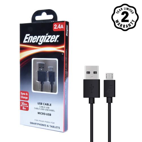 Cáp Energizer CL USB Micro 20cm màu đen - C12UBMCB - 7276525 , 13956732 , 15_13956732 , 75000 , Cap-Energizer-CL-USB-Micro-20cm-mau-den-C12UBMCB-15_13956732 , sendo.vn , Cáp Energizer CL USB Micro 20cm màu đen - C12UBMCB
