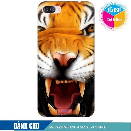 Ốp lưng nhựa dẻo dành cho Asus Zenfone 4 Max ZC554KL in hình Tiger