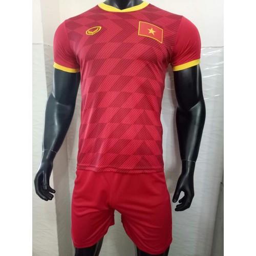 In tên số - bộ quần áo bóng đá Việt Nam đỏ 2019