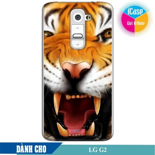 Ốp lưng nhựa dẻo dành cho LG G2 in hình Tiger