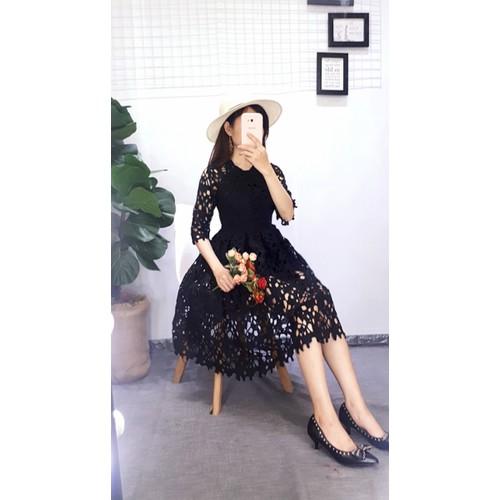 Đầm hoa lổ lưới