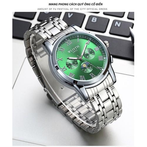 Đồng hồ nam WLISTH mặt tròn chống nước chống xước bán chạy nhất 2018 SD-BW-DH000143XD