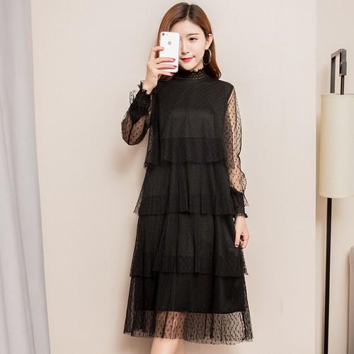 Đầm Bầu Ren Tiểu Thư