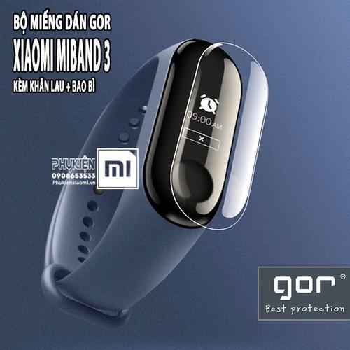 Miếng dán Gor cho XM MiBand 3 - 4 Full Box - bộ miếng dán 2 mặt trước sau