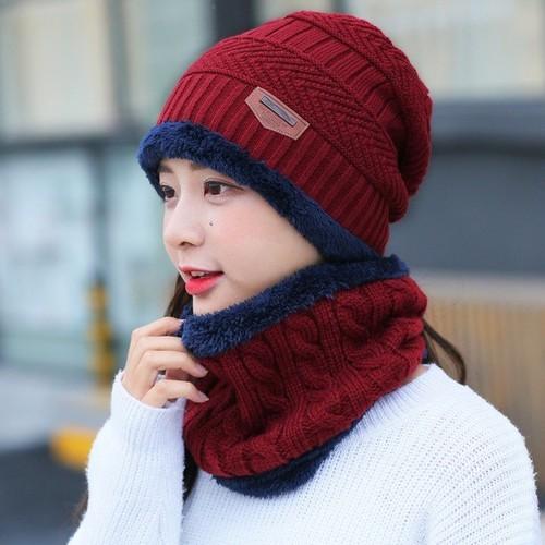 Set khăn mũ len cho nữ đủ màu