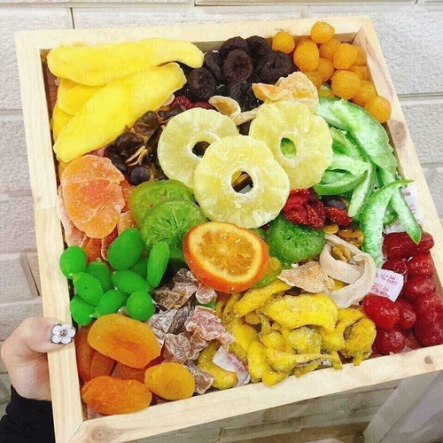mứt tết hoa quả sấy dẻo