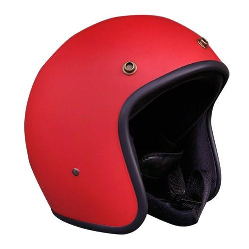 Mũ bảo hiểm 3 phần 4 đỏ nhám