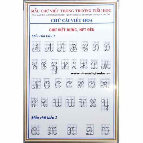 Bảng mẫu chữ viết trong trường tiểu học viền nhôm - 7291460 , 13966627 , 15_13966627 , 195000 , Bang-mau-chu-viet-trong-truong-tieu-hoc-vien-nhom-15_13966627 , sendo.vn , Bảng mẫu chữ viết trong trường tiểu học viền nhôm