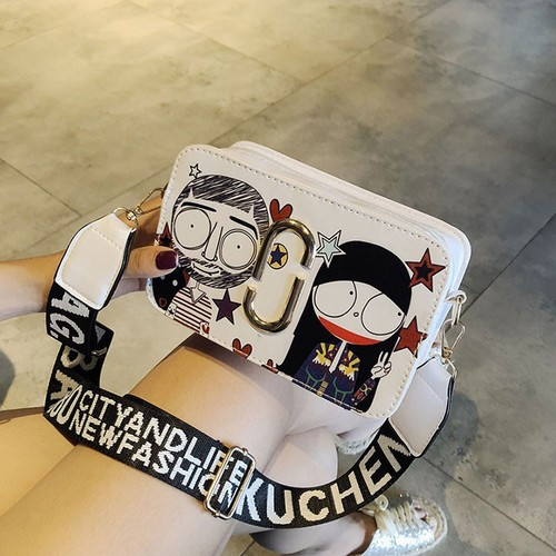 Túi Đeo Chéo Nữ Sendo handmade thời trang họa tiết hoạt hình nghộ nghĩnh tphcm HN159