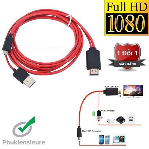 Cáp chuyển đổi MHL 11 pin Micro USB to HDMI Media adapter